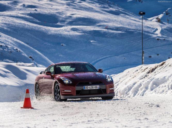 Nissan GT-R 2015 supercar car godzilar snow wallpaper 0b 4000x3000 wallpaper