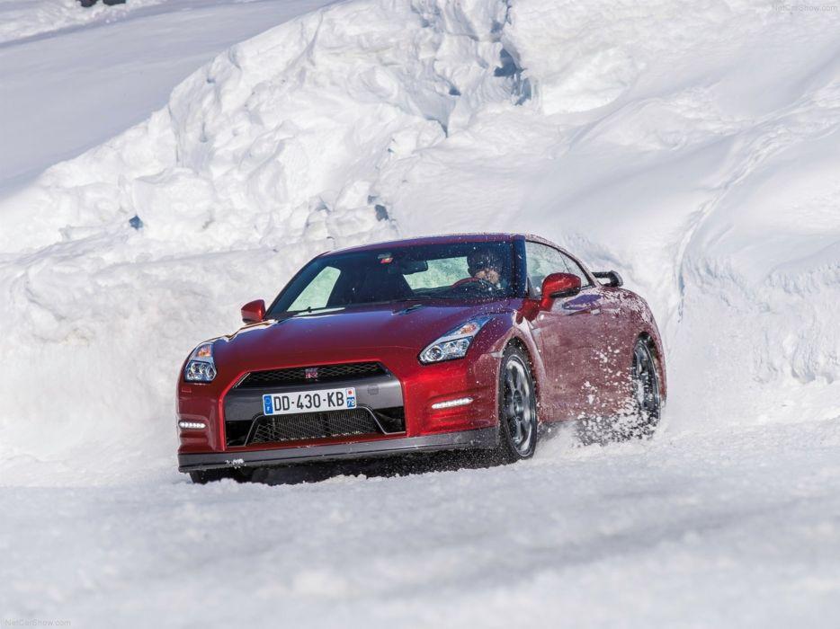 Nissan GT-R 2015 supercar car godzilar snow wallpaper 16 4000x3000 wallpaper