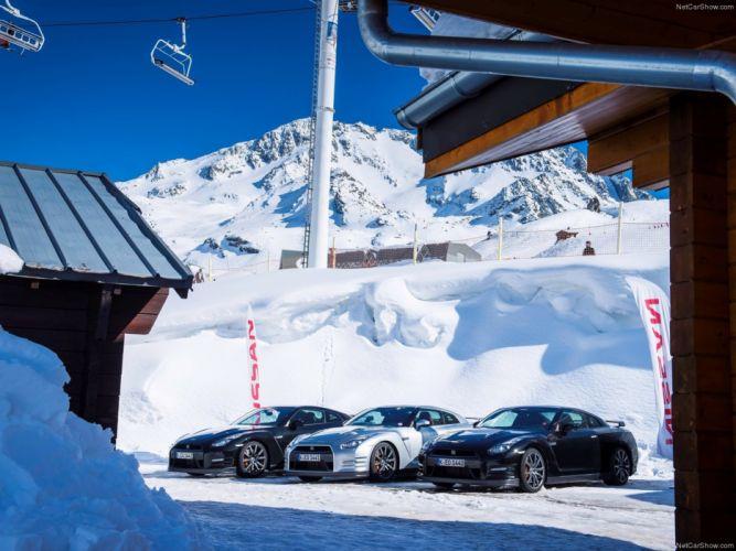 Nissan GT-R 2015 supercar car godzilar snow wallpaper 46 4000x3000 wallpaper