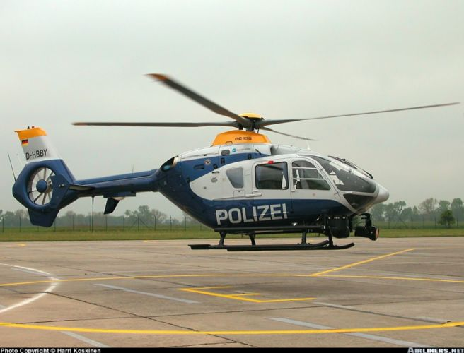 helicopter aircraft police Germany eurocopter ec-135 wallpaper