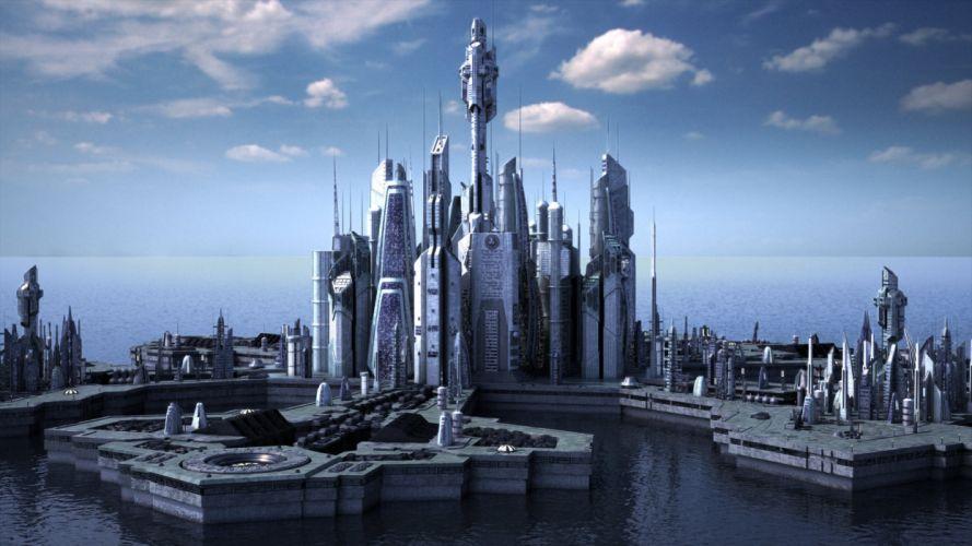 STARGATE ATLANTIS adventure television series action drama sci-fi (9) wallpaper