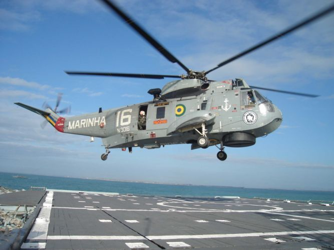 helicopter aircraft military Brazil navy rescue transport 4000x3000 wallpaper
