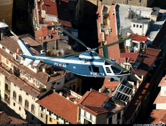 helicopter aircraft police Italy Agusta A 109A MK2 3939x3000 wallpaper