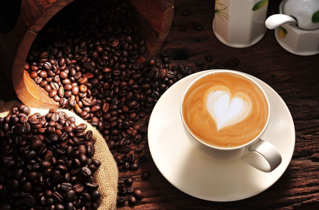 coffee heart mood cappuccino wallpaper