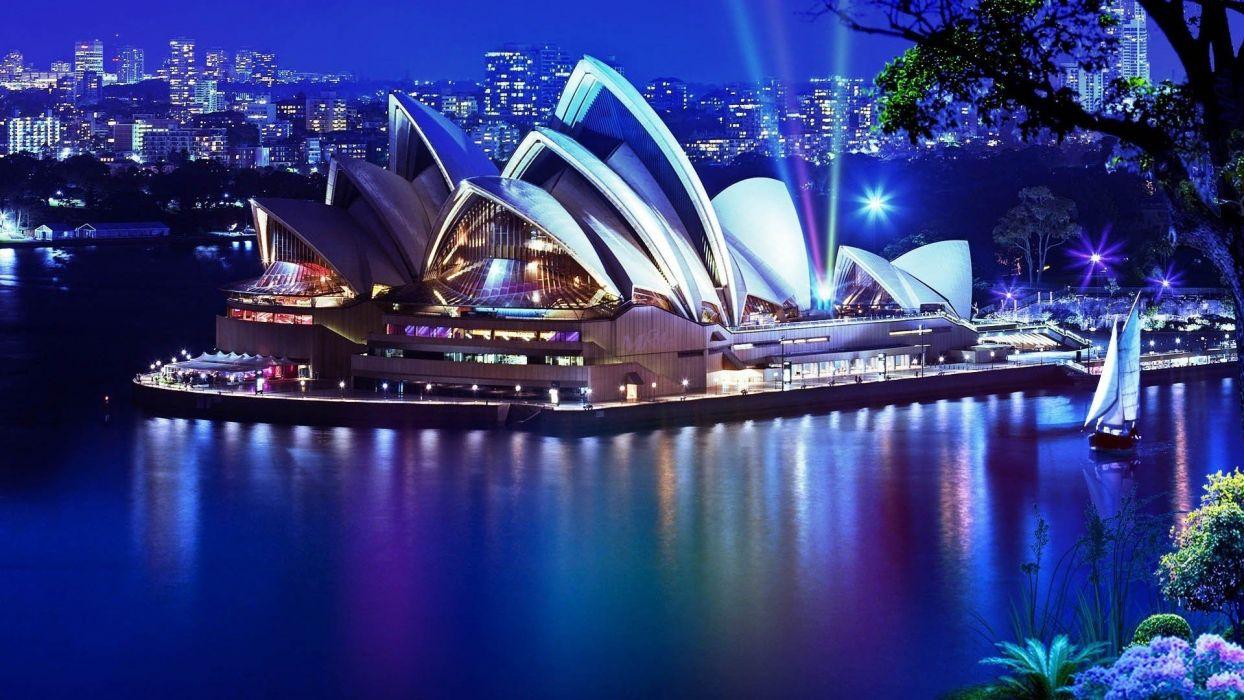 Sydney theater night wallpaper