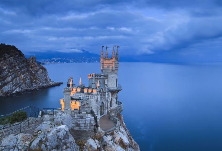 Swallow's Nest Crimea evening Coast castle ocean wallpaper | 2540x1728 | 348242 | WallpaperUP