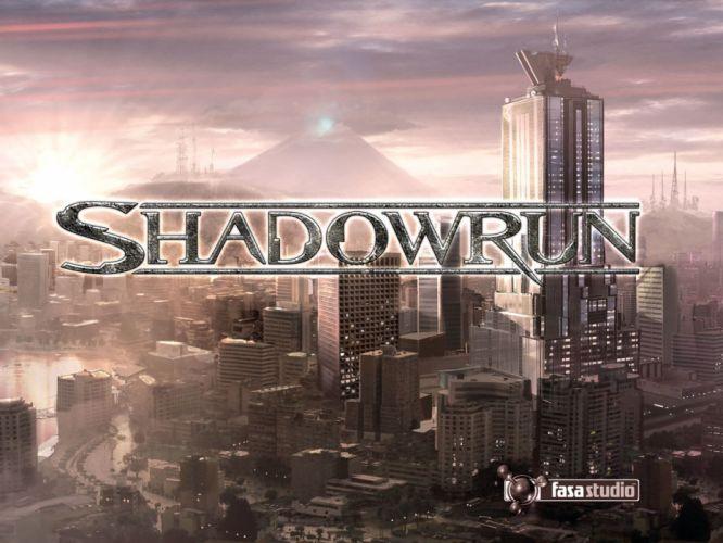 SHADOWRUN cardgame game mmo online fantasy sci-fi warrior fighting returns cyberpunk shooter (4) wallpaper