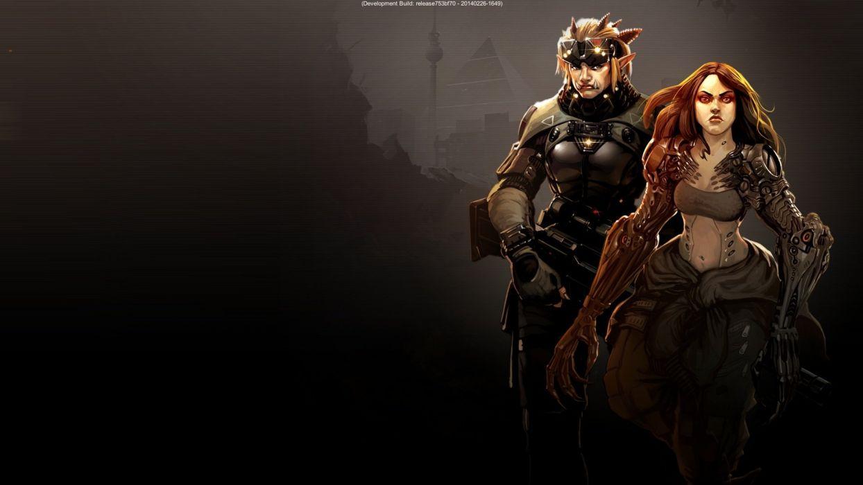 SHADOWRUN cardgame game mmo online fantasy sci-fi warrior fighting cyberpunk shooter (17) wallpaper