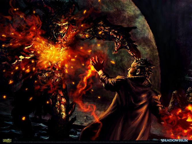 SHADOWRUN cardgame game mmo online fantasy sci-fi warrior fighting cyberpunk shooter (11) wallpaper