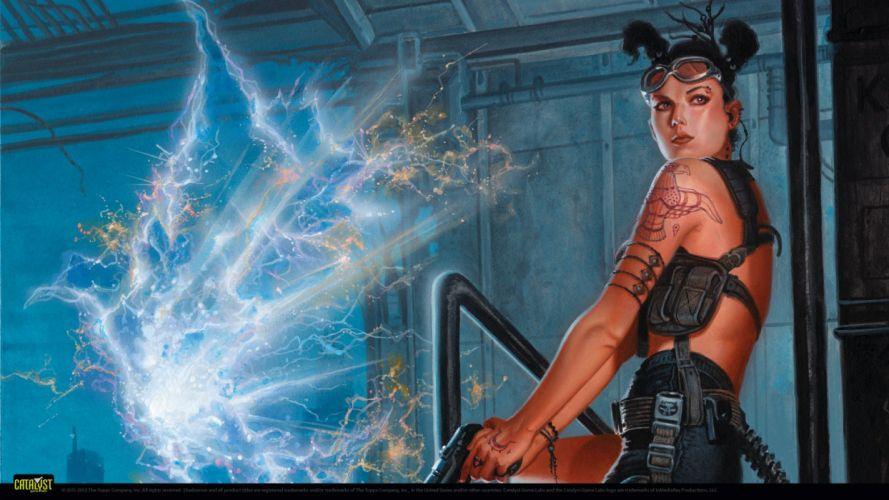 SHADOWRUN cardgame game mmo online fantasy sci-fi warrior fighting cyberpunk shooter (19) wallpaper