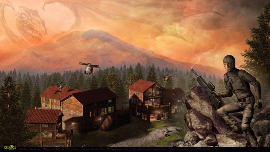 SHADOWRUN cardgame game mmo online fantasy sci-fi warrior fighting cyberpunk shooter (23) wallpaper