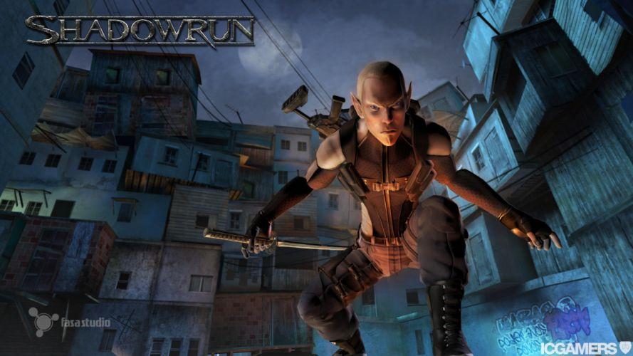 SHADOWRUN cardgame game mmo online fantasy sci-fi warrior fighting cyberpunk shooter (26) wallpaper