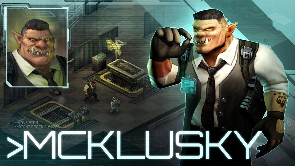 SHADOWRUN cardgame game mmo online fantasy sci-fi warrior fighting cyberpunk shooter (36) wallpaper