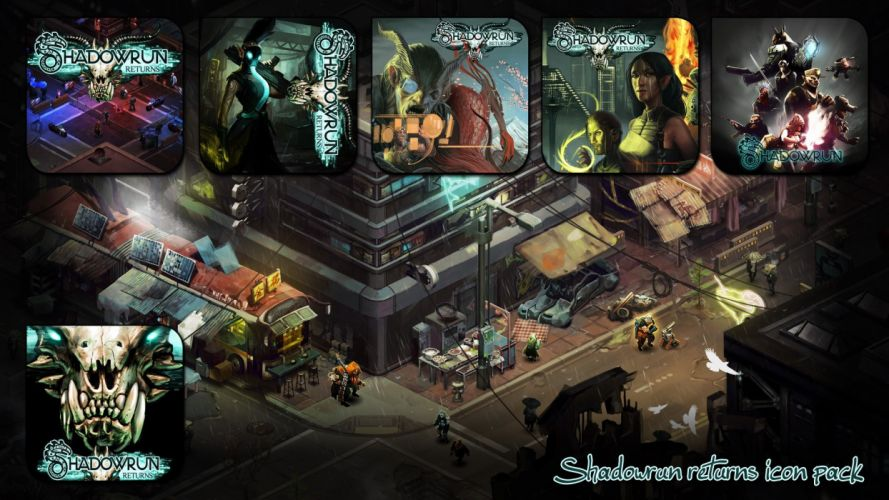 SHADOWRUN cardgame game mmo online fantasy sci-fi warrior fighting cyberpunk shooter (42) wallpaper