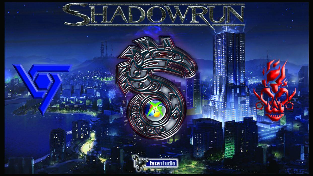 SHADOWRUN cardgame game mmo online fantasy sci-fi warrior fighting cyberpunk shooter (44) wallpaper