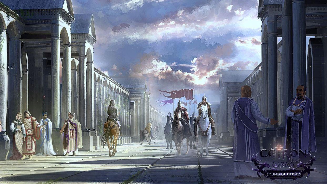 CEIRON-WARS strategy rpg dark fantasy mmo online ceiron wars warrior (9) wallpaper