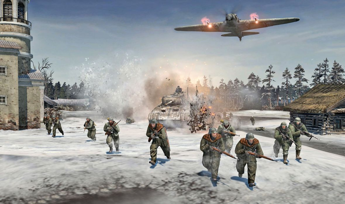 COMPANY-OF-HEROES strategy mmo onlime military war shooter action company heroes battle (13) wallpaper
