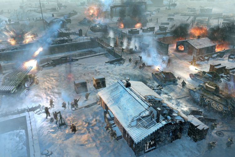 COMPANY-OF-HEROES strategy mmo onlime military war shooter action company heroes battle (11) wallpaper