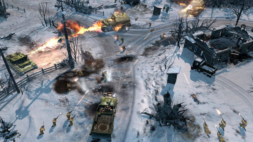COMPANY-OF-HEROES strategy mmo onlime military war shooter action company heroes battle (12) wallpaper