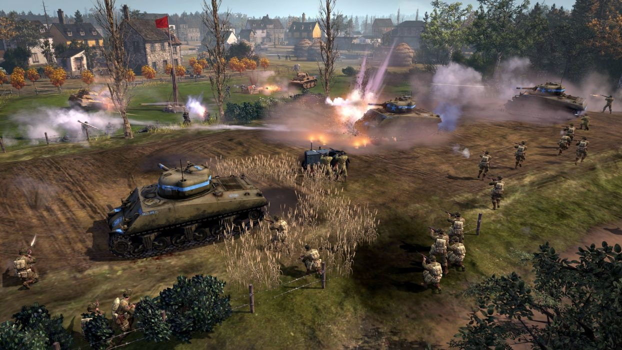 COMPANY-OF-HEROES strategy mmo onlime military war shooter action company heroes battle (26) wallpaper