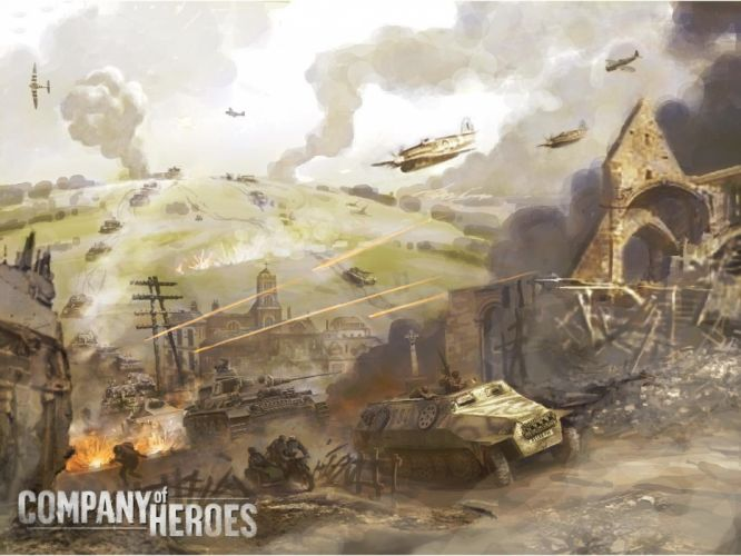 COMPANY-OF-HEROES strategy mmo onlime military war shooter action company heroes battle (35) wallpaper