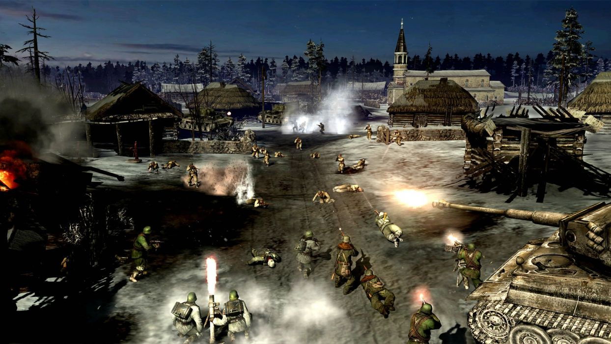 COMPANY-OF-HEROES strategy mmo onlime military war shooter action company heroes battle (38) wallpaper