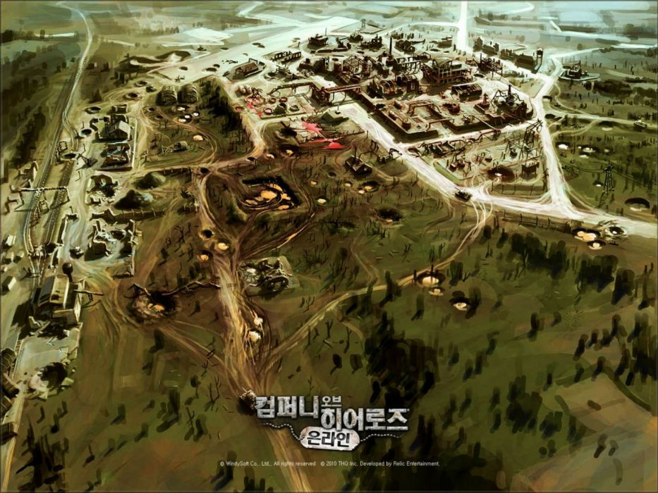 COMPANY-OF-HEROES strategy mmo onlime military war shooter action company heroes battle (62) wallpaper