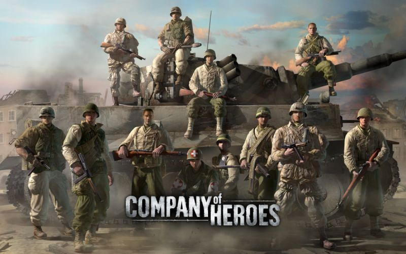 COMPANY-OF-HEROES strategy mmo onlime military war shooter action company heroes battle (67) wallpaper