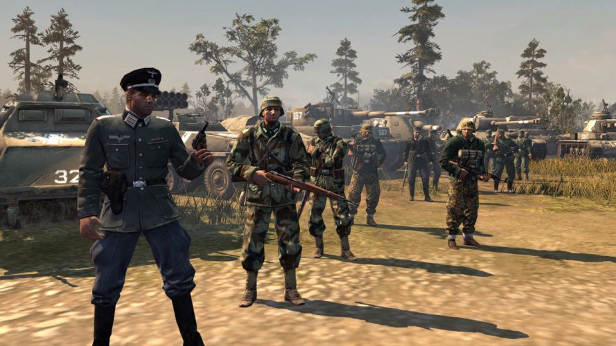 COMPANY-OF-HEROES strategy mmo onlime military war shooter action company heroes battle (80) wallpaper