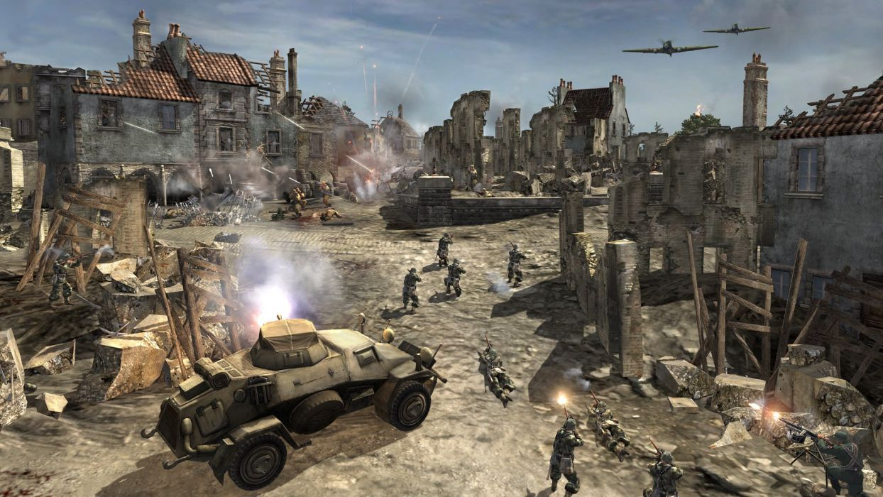 COMPANY-OF-HEROES strategy mmo onlime military war shooter action company heroes battle (76) wallpaper