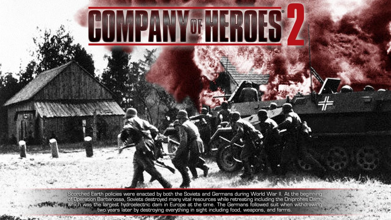 COMPANY-OF-HEROES strategy mmo onlime military war shooter action company heroes battle (77) wallpaper