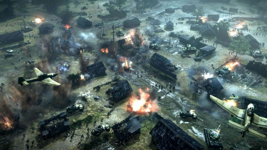 COMPANY-OF-HEROES strategy mmo onlime military war shooter action company heroes battle (86) wallpaper