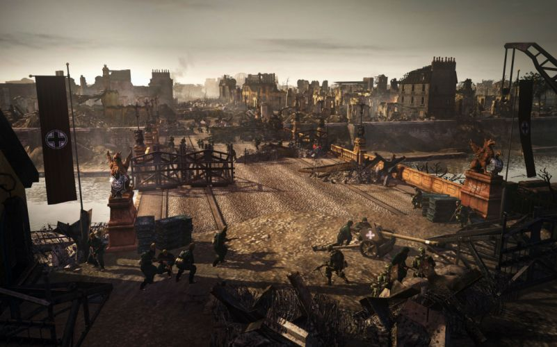 COMPANY-OF-HEROES strategy mmo onlime military war shooter action company heroes battle (84) wallpaper