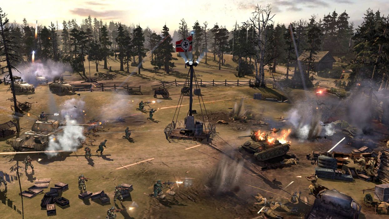 COMPANY-OF-HEROES strategy mmo onlime military war shooter action company heroes battle (95) wallpaper