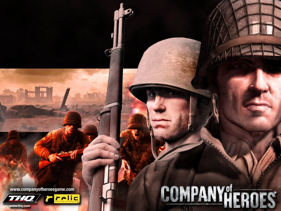 COMPANY-OF-HEROES strategy mmo onlime military war shooter action company heroes battle (90) wallpaper