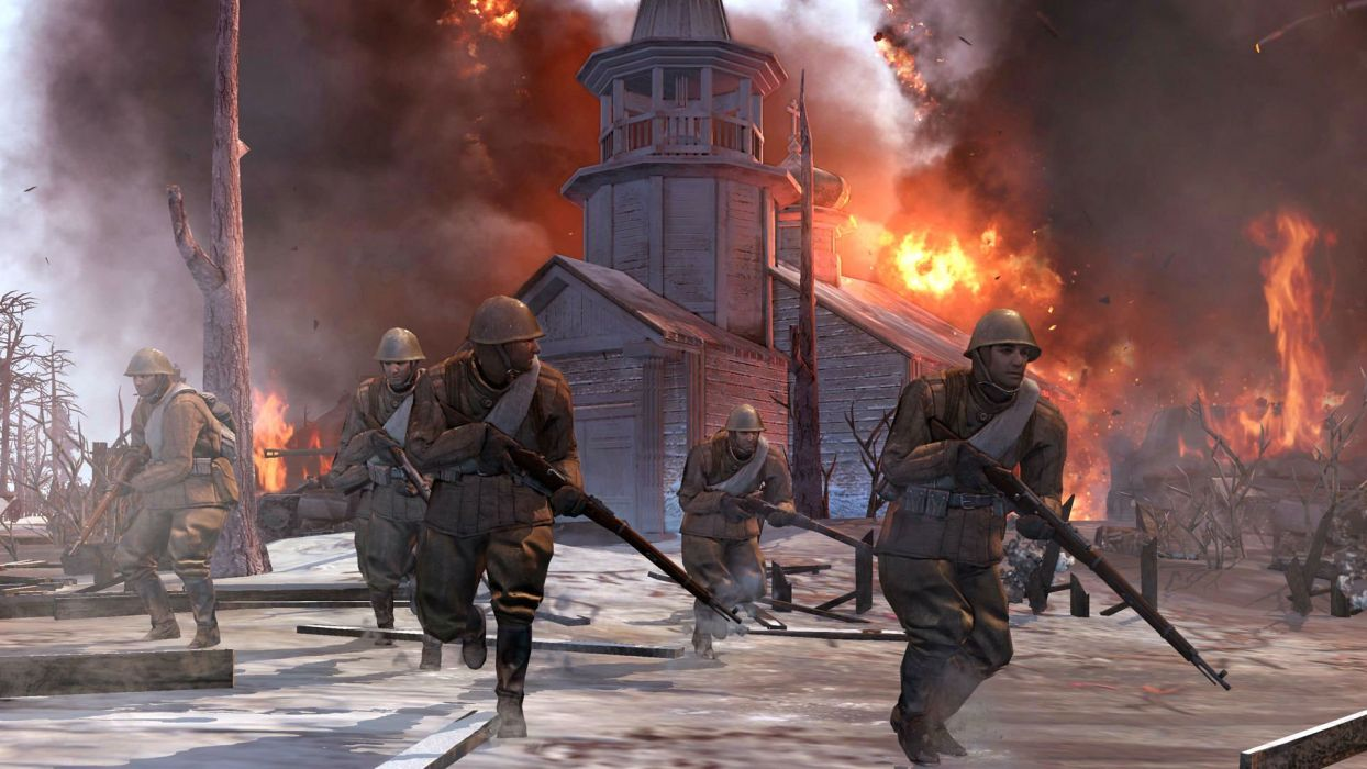 COMPANY-OF-HEROES strategy mmo onlime military war shooter action company heroes battle (104) wallpaper