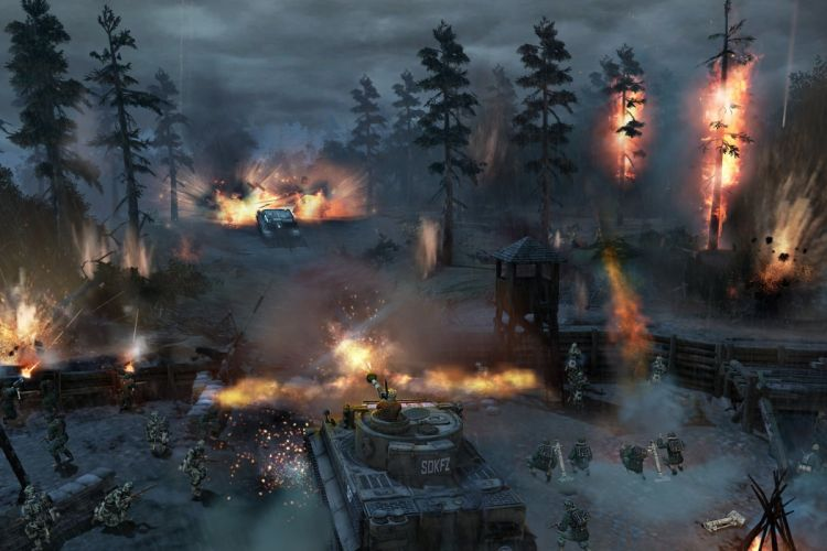 COMPANY-OF-HEROES strategy mmo onlime military war shooter action company heroes battle (102) wallpaper