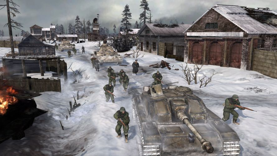COMPANY-OF-HEROES strategy mmo onlime military war shooter action company heroes battle (99) wallpaper