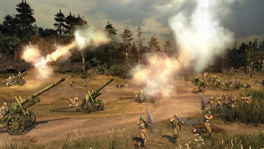 COMPANY-OF-HEROES strategy mmo onlime military war shooter action company heroes battle (113) wallpaper