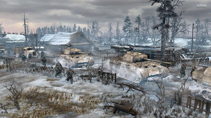 COMPANY-OF-HEROES strategy mmo onlime military war shooter action company heroes battle (109) wallpaper
