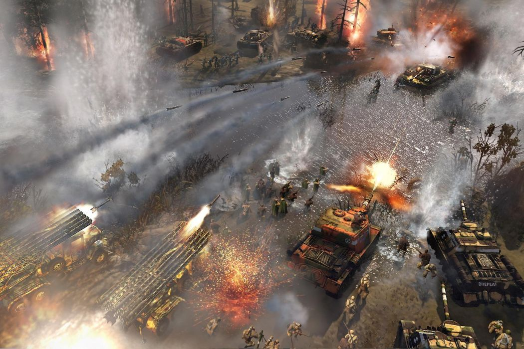 COMPANY-OF-HEROES strategy mmo onlime military war shooter action company heroes battle (111) wallpaper