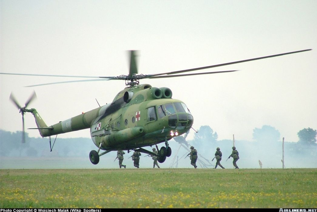 helicopter aircraft transport medical rescue Poland military army  wallpaper