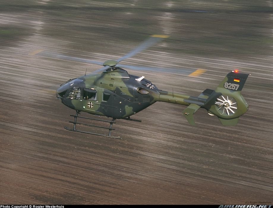 helicopter aircraft eurocopter ec-135 Germany military army  wallpaper
