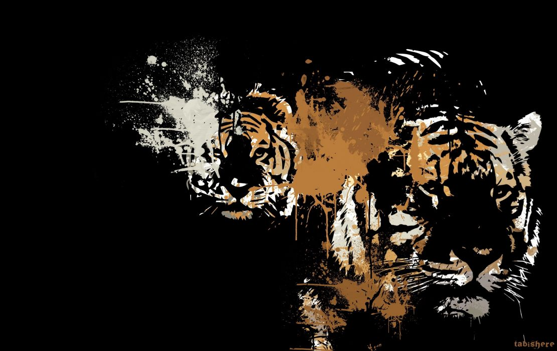 Vector Graphics Tigers Animals Tiger Wallpaper 3806x2400 348901