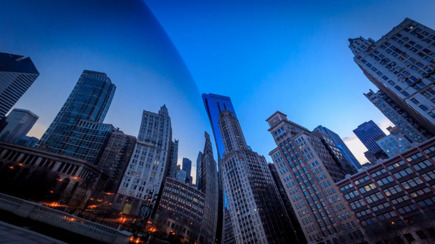 Millennium Park Chicago Buildings Skyscrapers Reflection wallpaper