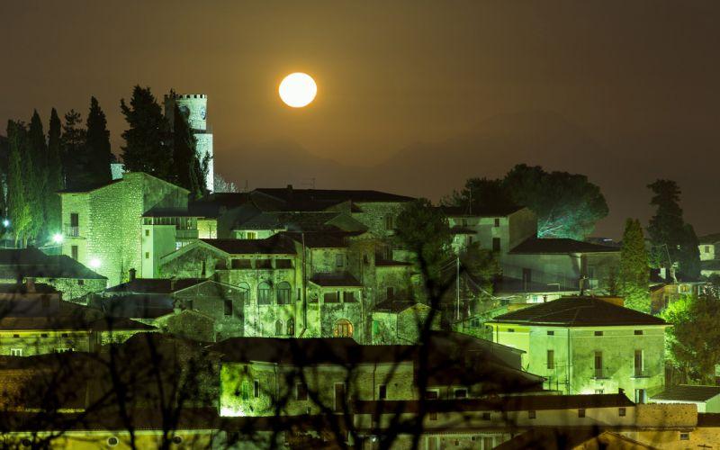 Moonlight Buildings wallpaper