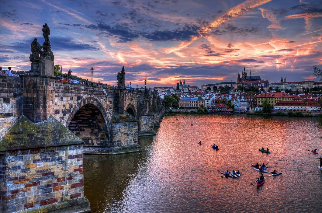 prage bridge republic sities czech Prague Czech Republic wallpaper
