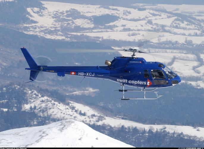 helicopter aircraft Switzerland blue wallpaper