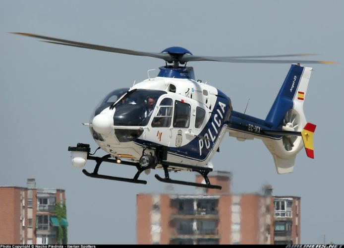helicopter aircraft police eurocopter ec-135 Spain wallpaper