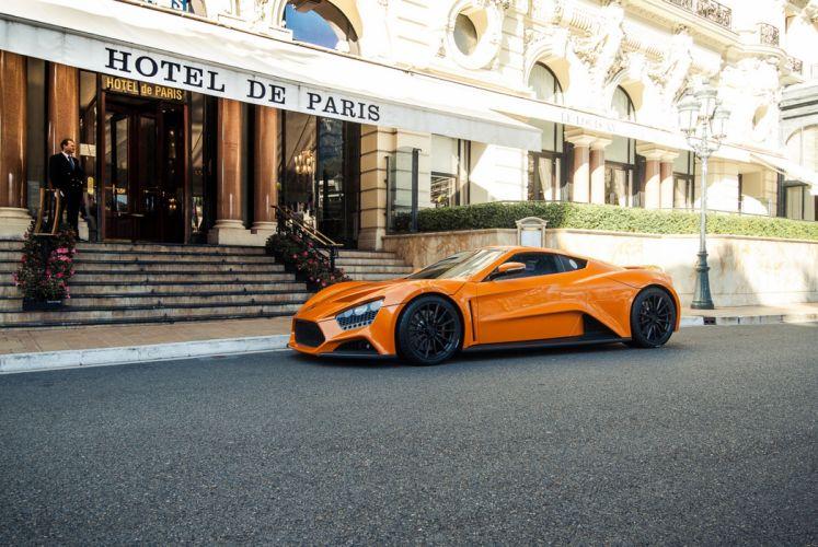 2009 Zenvo ST1 tours Monaco supercar car sports orange city europe hotel Paris wallpaper